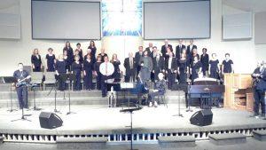 Robert with the Parkview Baptist Choir